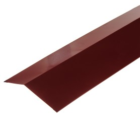 Планка карнизная с полиэстеровым покрытием 2 м цвет красный
