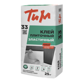 Клей для плитки стандартный ТиМ №33, 25 кг