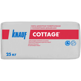 Смесь цементная универсальная Knauf Коттедж, 25 кг