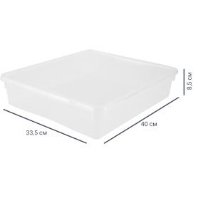 Ящик универсальный 33.5х8.5x40 см, 9 л, пластик цвет прозрачный с крышкой