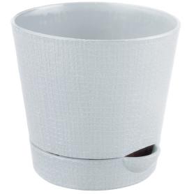 Горшок цветочный Тек.А.Тек Партер ø15 h13 см v1.4 л пластик кремовый