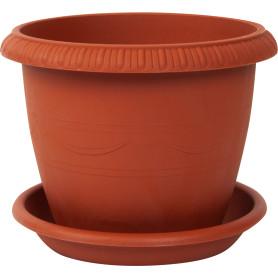 Горшок цветочный «Жардин» D15, 1, 6л., пластик, Коричневый