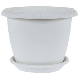 Горшок цветочный «Жардин» D20, 2, 8л., пластик, Серый / Серебристый