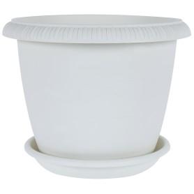 Горшок цветочный Жардин ø30 h24 см v9.5 л пластик серый