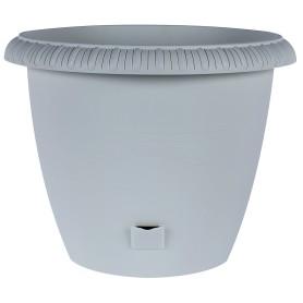 Горшок цветочный «Жардин» D40, 20, 5л., пластик, Серый / Серебристый