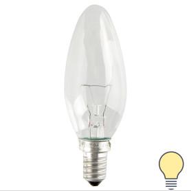 Лампа накаливания Osram E14 230 В 40 Вт свеча прозрачная 2 м2 свет тёплый белый