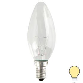 Лампа накаливания Osram E14 230 В 60 Вт свеча прозрачная 3 м2 свет тёплый белый