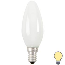 Лампа накаливания Osram E14 230 В 40 Вт свеча матовая 2 м2 свет тёплый белый