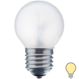 Лампа накаливания Osram шар E27 60 Вт матовая свет тёплый белый