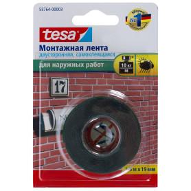 Лента двусторонняя для наружных работ Tesa, 19 мм х 1.5 м, цвет чёрный