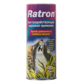 Приманка для грызунов и полевых мышей Ratron зерновая 250 г/250 кв.м