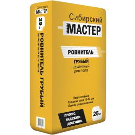 Стяжка пола Сибирский Мастер Ровнитель грубый 25 кг
