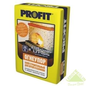 Клей огнеупорный для кладки печей и каминов Profit, 25 кг