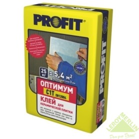 Клей Profit Оптимум тип В, 25 кг
