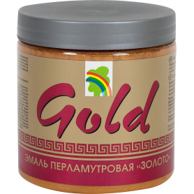 Эмаль акриловая перламутровое золото Р-117 0.4 л