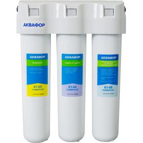 Система трёхступенчатая Аквафор Кристалл Универсал для жёсткой воды
