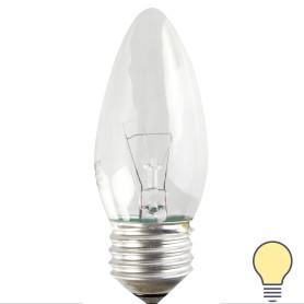 Лампа накаливания Osram свеча E27 60 Вт свет тёплый белый