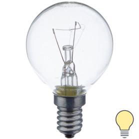 Лампа накаливания Osram шар E14 40 Вт прозрачная свет тёплый белый