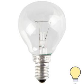 Лампа накаливания Osram шар E14 60 Вт прозрачная свет тёплый белый