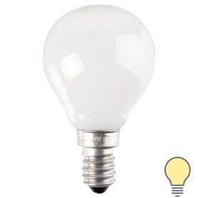 Лампа накаливания Osram шар E14 40 Вт матовая свет тёплый белый