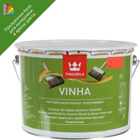 Антисептик для колеровки водный Tikkurila Vinha прозрачная база С 9 л