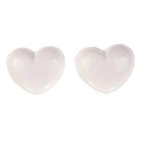 Демпферы двери «Сердце» TCWA-034A, изолон, цвет белый