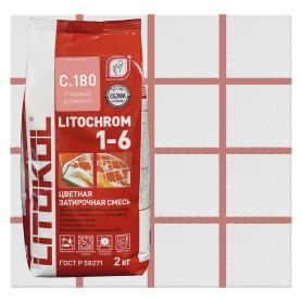 Затирка цементная Litochrom 1-6 С.180 2 кг цвет розовый