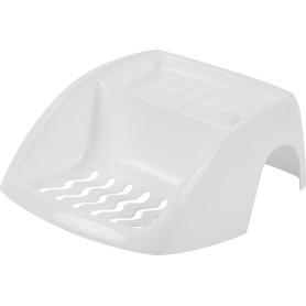 Мыльница подвесная на ванну полипропилен цвет белый