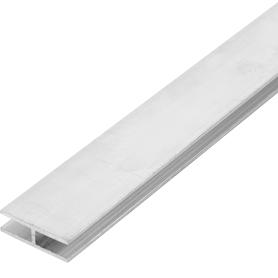 Профиль алюминиевый Н-образный 25х8х25х1.5x1000 мм