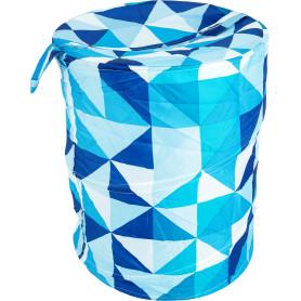 Корзина для белья «Пазл» 43х55 см цвет белый/синий