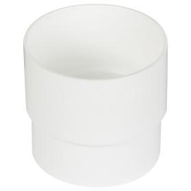 Муфта для водосточной трубы 80 мм цвет белый