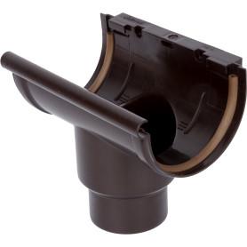Воронка желоба центральная 80 мм цвет коричневый