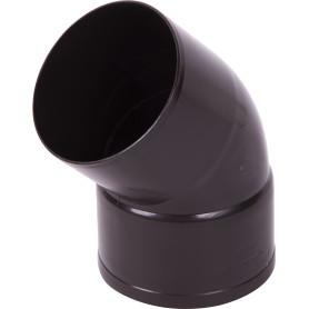 Отвод на 45° для трубы 80 мм цвет коричневый
