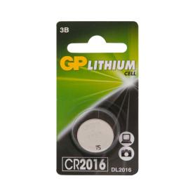 Батарейка литиевая GP CR2016, 1 шт.