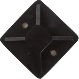Площадка самоклеящаяся для хомутов IEK 30х30 мм, цвет черный, 100 шт.