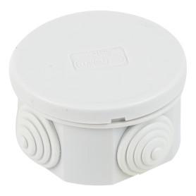 Коробка распределительная круглая Экопласт 65х35 мм цвет серый, IP44