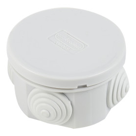 Коробка распределительная круглая Экопласт 80х40 мм цвет серый, IP44
