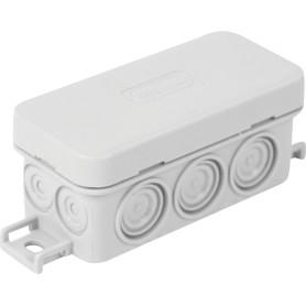 Коробка распределительная Экопласт 90х42х40 мм цвет серый, IP56