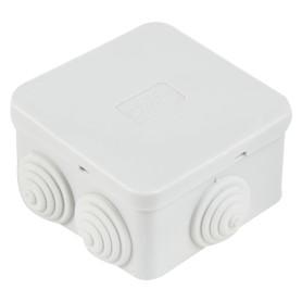 Коробка распределительная Экопласт70х70х40 мм цвет серый, IP44