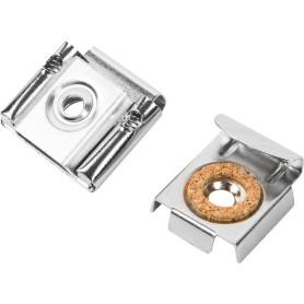 Крепление для зеркал SKL-M K 4х40 мм, нейлон, цвет серебро, 4 шт.