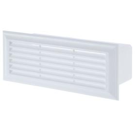 Решетка вентиляционная Вентс 871, 204х60 мм, цвет белый