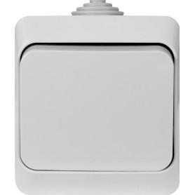 Выключатель накладной влагозащищённый Schneider Electric Этюд 1 клавиша IР44 цвет серый