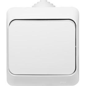 Выключатель накладной влагозащищённый Schneider Electric Этюд 1 клавиша IР44 цвет белый