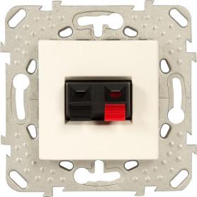 Аудио розетка встраиваемая Schneider Electric Unica, цвет бежевый