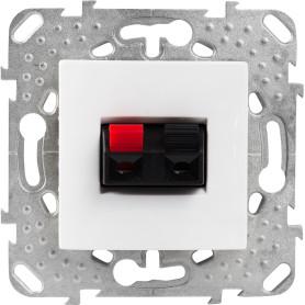 Аудио розетка встраиваемая Schneider Electric Unica, цвет белый