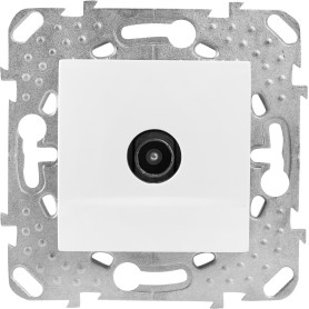 ТВ-розетка одиночная встраиваемая Schneider Electric Unica шлейф, цвет белый