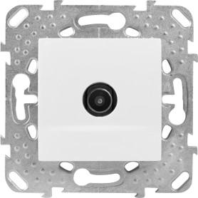 ТВ-розетка проходная встраиваемая Schneider Electric Unica шлейф, цвет белый