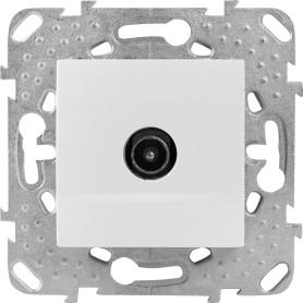 ТВ-розетка оконечная встраиваемая Schneider Electric Unica шлейф, цвет белый