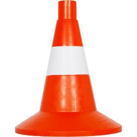 Конус жёсткий малый, цвет оранжевый/белый