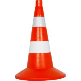 Конус мягкий комбинированный большой, цвет оранжевый